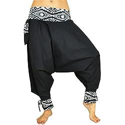 Pantalones cagados corte tradicional con decoración hermosa como ropa hippie y pantalones bombachos de virblatt S - L - Glück