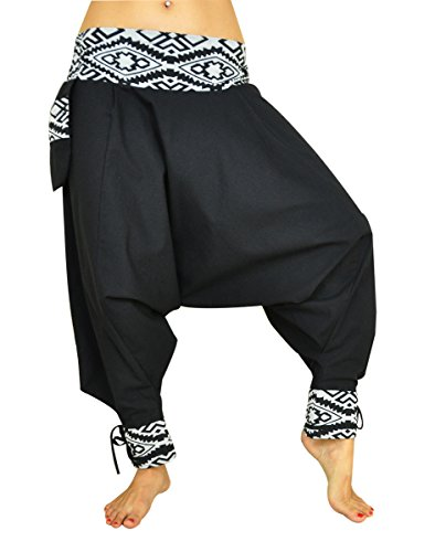 Pantalones cagados corte tradicional con decoración hermosa como ropa  hippie y pantalones bombachos de virblatt S f610fa9ba728