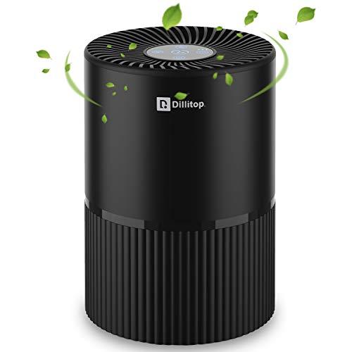 Tragbare Luftreiniger, USB Negativ Ionen luftwäscher mit Nachtlicht und Timer, 99,99{b132fdddca59022a9adefe5d4091d267191447ddcd1fb96626565faf2a39cce7} Filterleistung HEPA Aktivkohlefilter, Entfernt Pollen, Rauch, Gerüche usw, Ideal für Allergiker, Asthma, Raucher