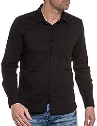 BLZ jeans - Chemise noire unie chic