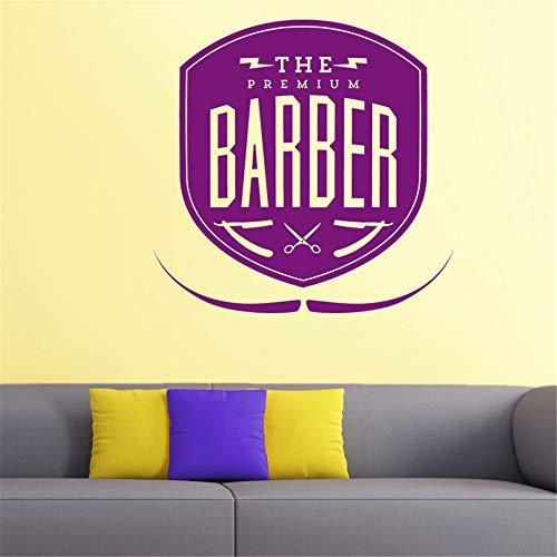 lyclff Friseur Aufkleber Hacken Brot Aufkleber Haarschnitt Rasierer Poster Vinyl Wandkunst Aufkleber Decor Windows Dekoration Wandbild 40 * 40 cm