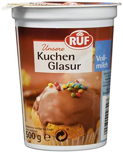 RUF Glasur Vollmilch 500g, 8er Pack (8 x 500 g)