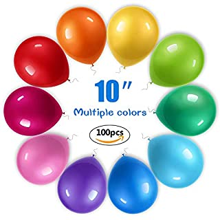 Allora Nest Luftballons,100 Stücke Sortierte Farben Party Ballons, Helium geeignete - Ballons für Hochzeit, Valentinstag, Geburtstag UVM