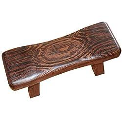 Ruier-hui Banco de madera, masaje, fitness, Yoga, meditación, taburete cervical de madera maciza apoyo almohada