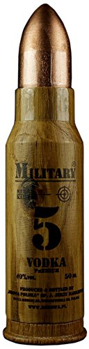 Geschenkidee Dębowa Military Mini   Sammlerstück   Polnischer Wodka   1 x 40%, 0,05 Liter -