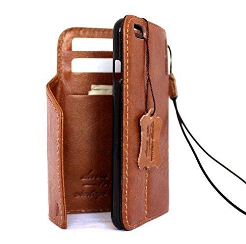 Vintage fait à la main en cuir italien véritable étui de sécurité pour Apple iPhone 3S Portefeuille Lite pour 6S rétro au