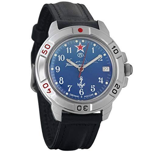 Wostok komandirskie Military Russische Armbanduhr U-Boot U-Boot blau 2414/431289