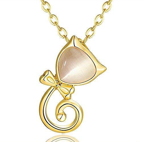 XUHUZI Halskette Die Kette Anhänger Halsbänder Der Kragen Kragen Halbedelsteine Anhänger-Halskette Umweltschutz Gold Tier Anhänger Mode Halteseil Halskette