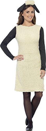 Smiffy's 20605S - Shaun das Schaf Kostüm mit Dress und Stirnband