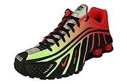 Nike Shox R4 / Neymar JR Herren Running Trainers BV1387 Sneakers Schuhe (UK 9 US 10 EU 44, Black Challenge red 001)