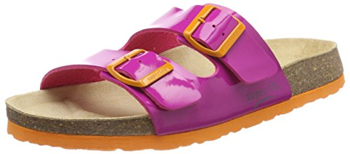 Superfit Mädchen Fussbettpantoffel Pantoffeln, Pink (Pink), 36 EU