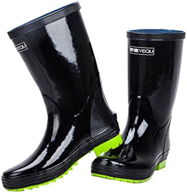 Stivali da pioggia Uomo Cilindro Cilindro Cilindro di Gomma ad Alta impermeabilità Scarpe Antiscivolo Antiscivolo per la Pesca all'aperto   Caratteristico    Sig/Sig Ra Scarpa  f32d17