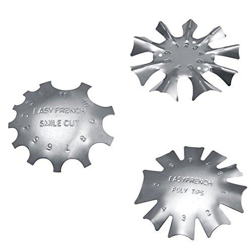 perfk 3 Größen Nailart Edge Trimmer Cutter für UV Gel Acryl French Nägel Modellage -