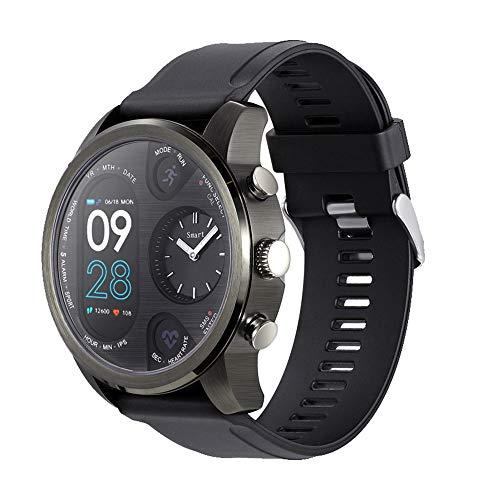 Happy-day Unisex GPS Laufuhr Wasserdicht Smart Watch Fitness Activity Herzfrequenz Tracker Schlafüberwachung Schrittzähler Anruferinnerung S Schwarz