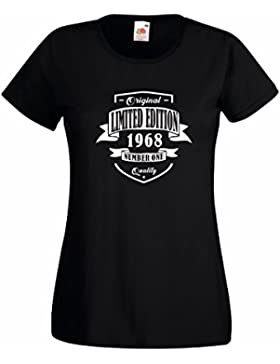 Settantallora T-Shirt Maglietta Donna J2640 Original Limited Edition 1968 Number One