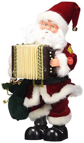 Present Simple 5AUT300RO Père Noël Chante en Français Rouge 33 cm