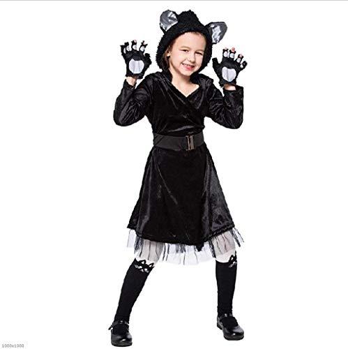 DDHZTA Halloween Erwachsene Jungen Und Mädchen Kitty Cat Dress Kinderkleidung Cosplay Tier Schwarze Katze,Blackcatfemalem