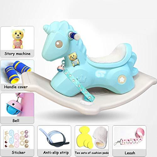 e1ceb6eb7 Rocking chair Silla Mecedora de plástico para bebés, Caballo de balancín  Grande Engrosado (Color
