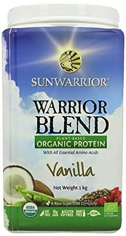 Sunwarrior 1 kg Vanilla Warrior Blend Organic Protein