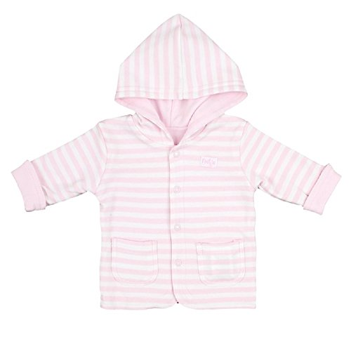 Feetje Baby-Jacke Wendejacke mit Kapuze Uni/Ringel 518137 rosa (192) Gr.50 - Mädchen Baby Jacke Kapuzen
