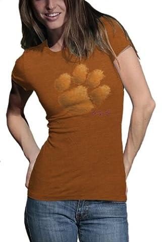 NCAA Clemson Tigers Watercolor Junior Heather T-Shirt, damen, Clemson Tigers