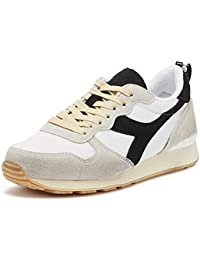 Diadora C8015 Game L Low Used White Black Sapphire Bianco Blu Giallo Scarpe  Uomo Sneakers 61241285b4f