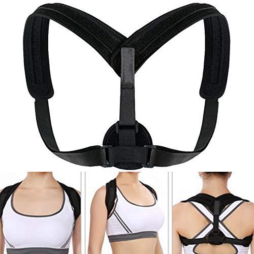 obiqngwi Mode Back Posture Corrector Schulterbandage Unisex-Buckelbandage-Stützgürtel - Schwarz
