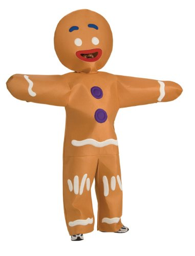 Shrek 4 Gingerbread Man Deluxe Costume Adult (Shrek Supplies Party)