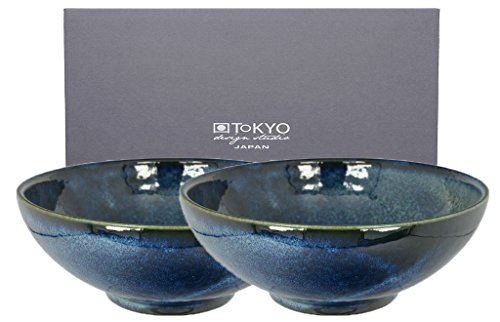 Tokyo Design Studio, Cobalt Blue, 2 Bols, 2 pièces, Ø 21 cm, en porcelaine du Japon