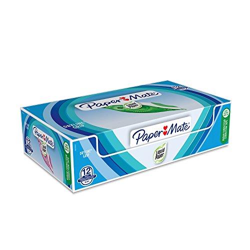 Paper Mate Liquid Paper DryLine Grip correttore a nastro, colori assortiti, confezione da 12
