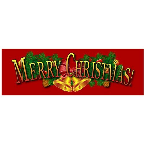3' Vinyl (BannerBuzz Merry Christmas Deko-Banner mit 4 Ösen, strapazierfähig, ca. 325 ml, Vinyl 5' X 3' multi)