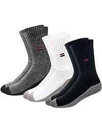 NAVYSPORT Men's Cotton, Polyester & Elastane Socks (Pack of 6)