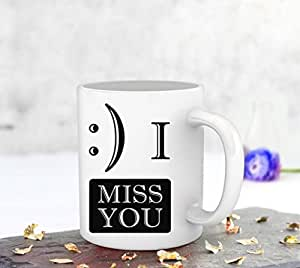 TIED RIBBONS TIED RIBBONS I miss you Printed Coffee Mug(325ml)