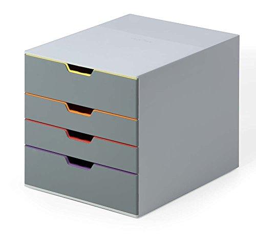 hubladenbox (Varicolor 4 Fächer, mit Etiketten zur Beschriftung) mehrfarbig ()