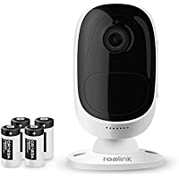 Reolink Argus Überwachungskamera Wireless IP Kamera 1080p Outdoor Indoor Baby Camera batteriebetrieben nachtsicht Zuhause schwenkbar für Haustier Hunde Kinder und Ältere mit SD-Karten Steckplatz