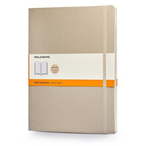 Moleskine Classic Colored Notebook, Extra Large, Ruled, Khaki Beige, Soft Cover (7.5 x 10) by Moleskine (2014) Diary
