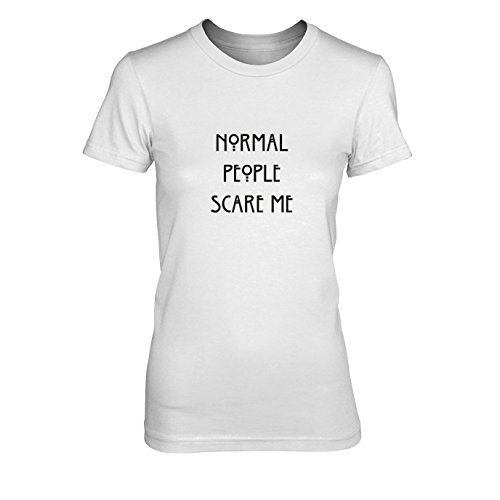Pinterest Damen Kostüme (Normal People scare me - Damen T-Shirt, Größe: S, Farbe:)