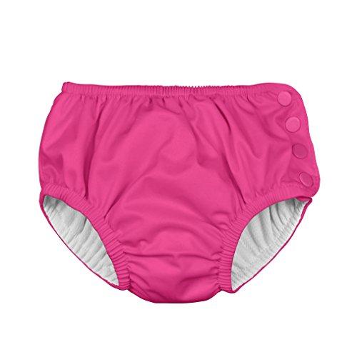 i play. 711200-200-42 Ultimative Schwimmwindel mit Druckknöpfen 6 Monate, solid, hot pink