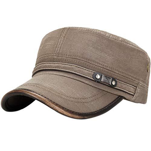 Demarkt Military Army Cap Herren Vintage Militär Mütze Verstellbar Armymütze Baumwolle Baseball Cap Kappe (A) Herren Vintage Cap