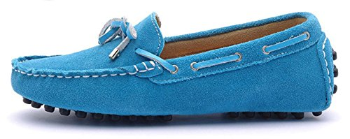 Minitoo ,  Damen Durchgängies Plateau Sandalen mit Keilabsatz Blau