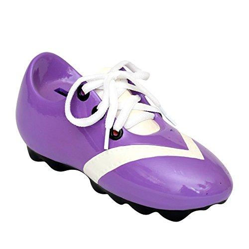 Alcancia forma zapato fútbol cordones tamaño 21