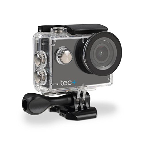 tec+ 720P HD Display Actionkamera Action Sport Camera Inkl. Diversen Halterungen und Wasserdichtem Gehäuse - Schwarz