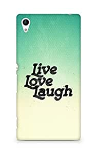 Amez Live Love Laugh Back Cover For Sony Xperia Z4