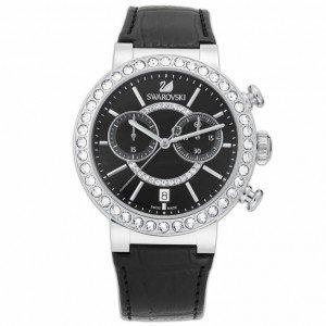 Swarovski Damen Analog Quarz Uhr mit Leder Armband 5027131