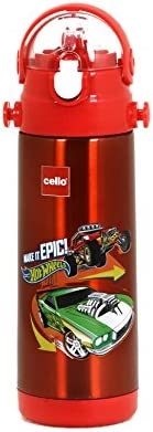 Cello POPTOP Stainless Steel Kids Sipper Water Bottle