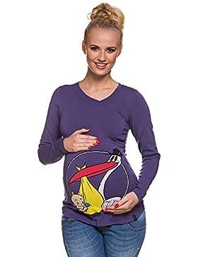 73fb6c9b2b99  Sponsorizzato My Tummy Maglia Premaman Cicogna II Abbigliamento Premaman  Magliette Premaman T-Shirt