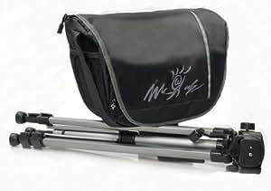 Aktions-Set Sac d'appareil photo Noir Motif Miami Taille M Avec pied photo de voyage