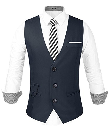 hasuit homme gilet costume veste slim fit sans manches. Black Bedroom Furniture Sets. Home Design Ideas