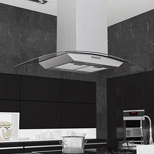 Tidyard Campana extractora de Techo 90 cm Acero Inoxidable 756 m³/h LED