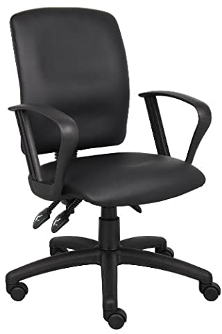Leather Plus Task Chair with Loop Arms